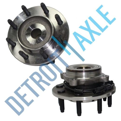 Pair of 2 NEW Front Driver and Passenger Wheel Hub and Bearing 8 LUG w/ ABS wire
