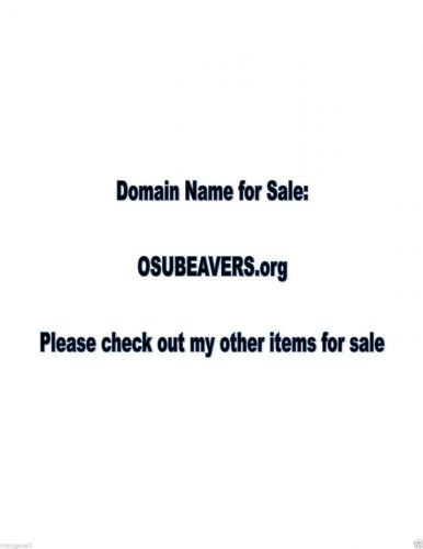 Domain Name - OSUBEAVERS.org - great name for a website