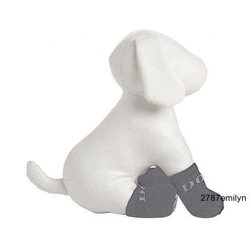 Doggie Pet Socks Rubberized Insulated Winter Dog Shoes Booties Clothes 4 pk. New