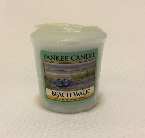 Yankee Votive Candle, Beach Walk Scent, Authentic Brand Name.