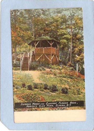 New York Elmira Summer House & Electric Flower Beds Rorick Glen Park ny_bo~997