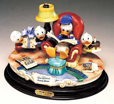 Disney DONALD DUCK & Nephews COMICS Capodimonte Laurenz C.O.A. Original Box