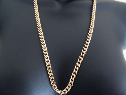 """Necklace 18"""" - 36"""" 6mm solid18K Gold Layered Cuban Link Chain.Guarantee for life"""