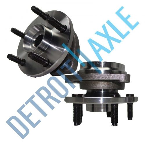 Pair of 2 - NEW Front Driver and Passenger Wheel Hub and Bearing AWD w/o ABS