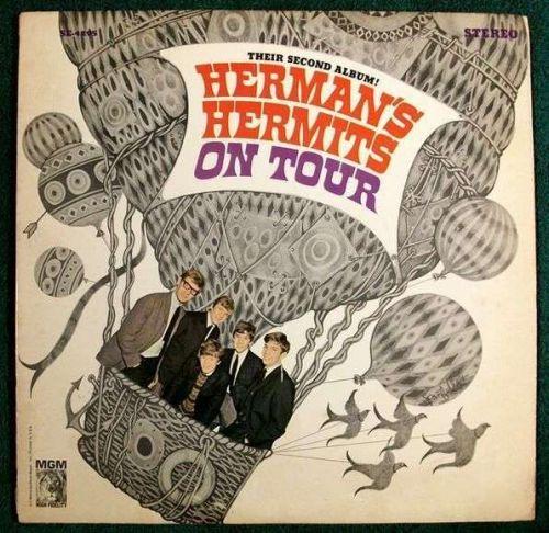 HERMAN'S HERMITS ~ Herman's Hermits On Tour 1965 Rock LP