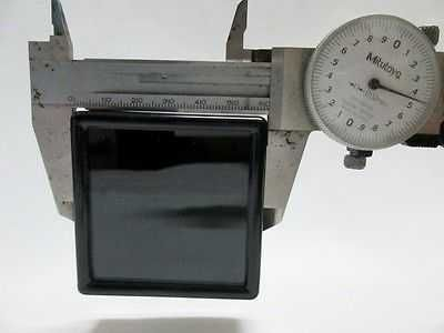 12 pcs Gem Tool Display Boxes Square Black Box With Lids Top Glass 6 x 6 x 2 cm.