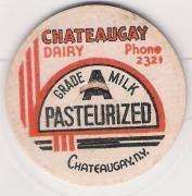 New York Chateaugay Milk Bottle Cap Name/Subject: Chateaugay Dairy~41
