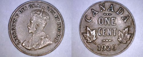 1926 Canada 1 Large Cent World Coin - Canada