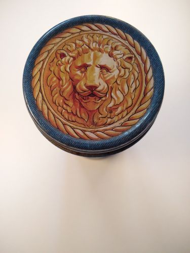 Versace Blue Jeans Tin (With Slight Dent) Empty Can.