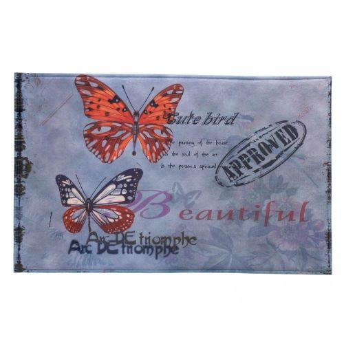 Artistic Butterfly Memory Foam Floor Mat Kitchen Office Butterflies Comfort Mat