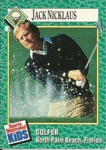 JACK NICKLAUS, GOLFER North Palm Beach Florida Collector Card Sports Illustrated