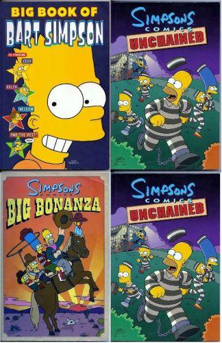 Lot of 4 Simpsons Comics Compilation Books