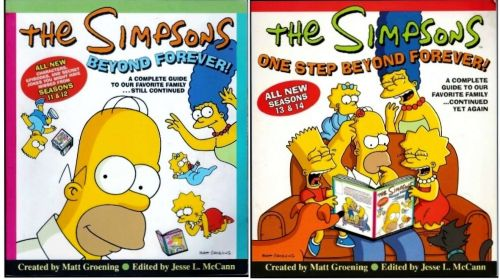 2 Simpsons Books: The Simpsons Beyond Forever! & One Step Beyond Forever!
