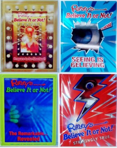 4 Hardcover Ripley's Believe it or Not Books