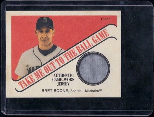 2004 Topps Cracker Jack Take Me Out to the Ballgame Relics TB-BB2 Bret Boone