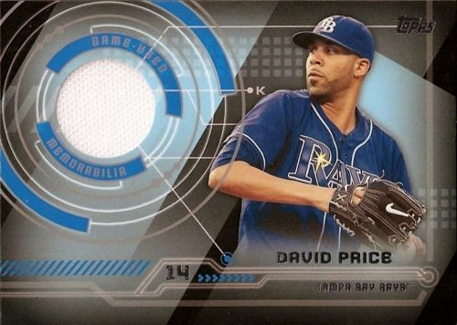 2014 Topps #TR-DPR David Price Trajectory White Jersey Relic