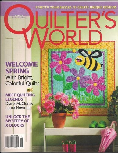 4 OOP Quilters World Magazine instructions and patterns 55 quilt projects