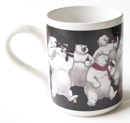 1996 Coca Cola Coffee Tea Mug by Gibson Polar Bears