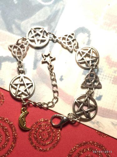 Pentacle & CelticTriquetra Link Bracelet