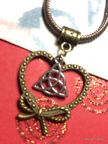 CelticTriquetra Bowknot Heart European Charm