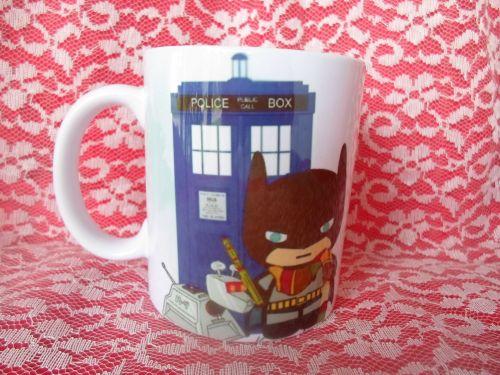 batman Doctor who Fan Art mug