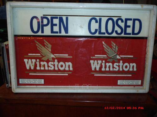VINTAGE OPEN/CLOSE WINSTON CIGARETTE SIGN
