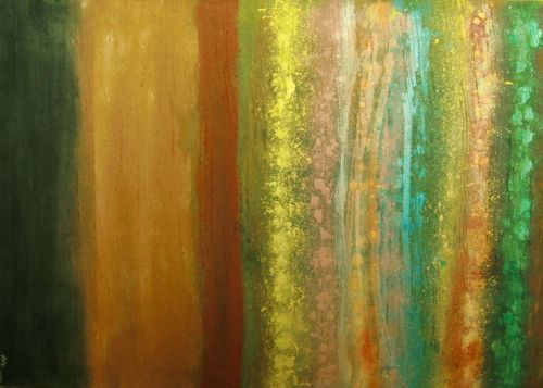 Original abstract hand-made acrylic painting, on stretched, canvas - 24 x 36 in