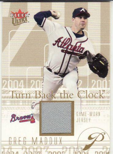 2004 Ultra Turn Back The Clock Jersey Gold #TBC-GM - Greg Maddux - Braves