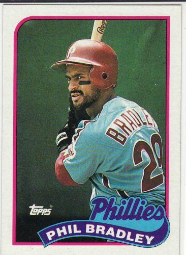 1989 Topps #608 - Phil Bradley - Phillies