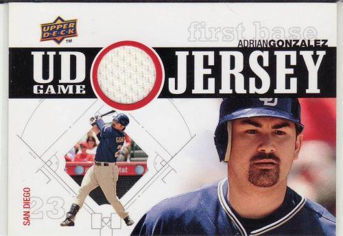 2010 Upper Deck UD Game Jersey #UDGJ-GO - Adrian Gonzalez - Padres