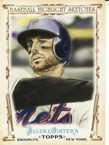 2011 Allen & Ginter Baseball Highlight Sketches #BHS-21 - David Wright - Mets