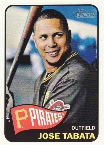 2014 Topps Heritage #412 - Jose Tabata - Pirates