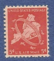 US 5 Cents Airmail 1948 Stamp, MNH