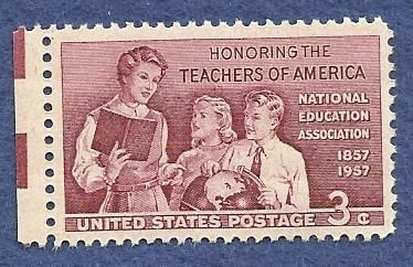 U.S. 1957, TEACHERS OF AMERICA, 3 CENT, MNH/OG
