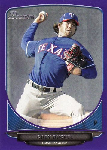 2013 Bowman Prospects Purple #BP97 - Cody Buckel - Rangers