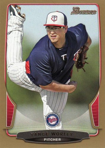 2013 Bowman Gold #163 - Vance Worley - Twins