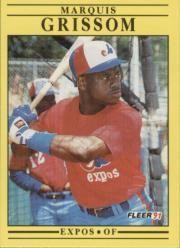 1991 Fleer #234 Marquis Grissom