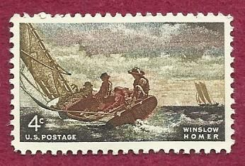 "US 4 Cent 1962 Stamp Winslow Homer ""Breezing Up"" MNH Scott #1207"