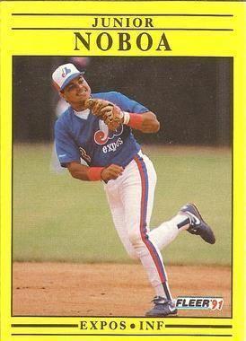 1991 Fleer #242 Junior Noboa