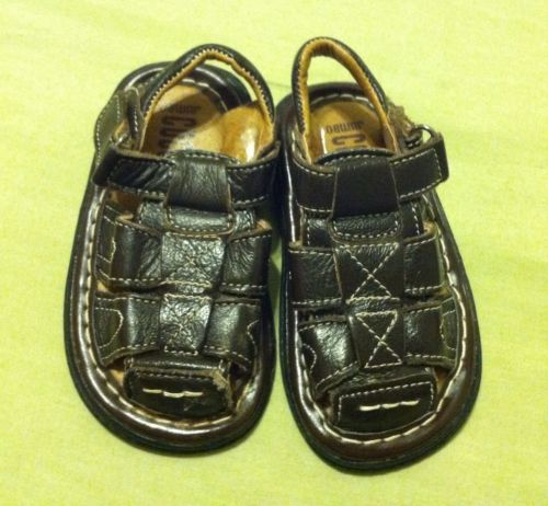 Coco Jumbo Boys Leather Fisherman Sandals Shoes Size 4
