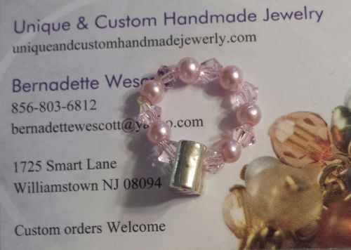breast cancer awareness handmade ring can be made in any size