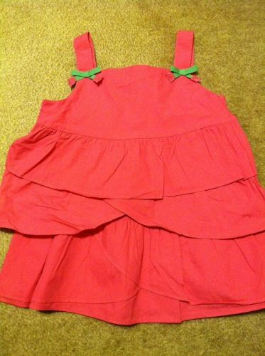 Gymboree Bright Tulip Size 9 Pink Tiered Ruffle Tank Shirt Top