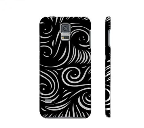 Crosson Black White Samsung Galaxy S5 Phone Case