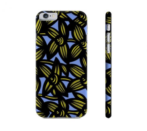 Borza Yellow Blue Flowers Floral Botanical Iphone 6 Phone Case