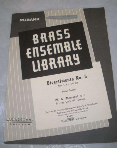 Divertimento NO. 5 - Mozart/Johnson - Brass Sextet