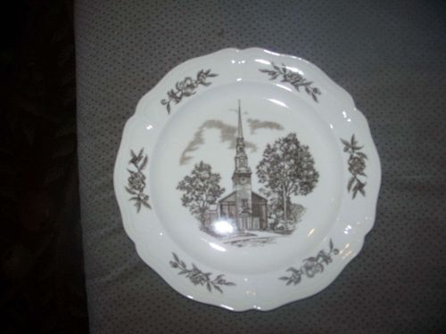 Wedgwood Plate- 'The Myers Park Baptist Church Sanctuary', Charlotte, N.C.