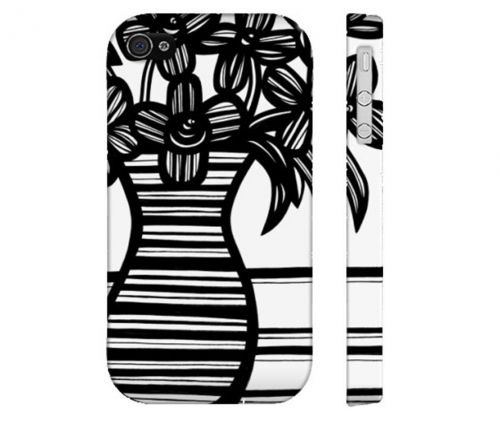 Stockwell Black White Flowers Floral Botanical Iphone 4/4S Phone Case
