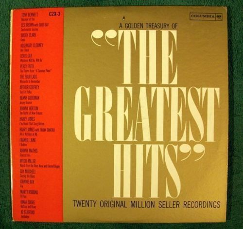 "A Golden Treasury of "" THE GREATEST HITS "" / Columbia ""Six-Eye"" DOUBLE Pop LP"