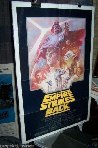 EMPIRE STRIKES BACK Star Wars Movie Poster folded R810129 --1970's