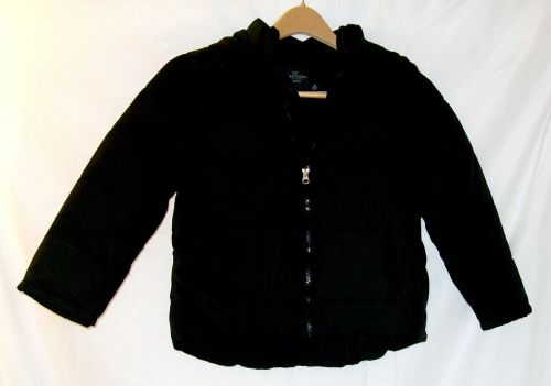 EUC youth sz.S(6-7), Faded Glory black puffer bubble winter jacket with hood.